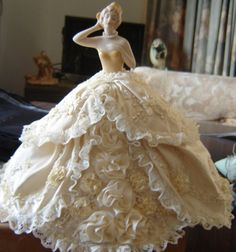 A porcelain half doll by Joyce Wilson 87 years young, from Australia in New South Wales.