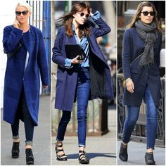 El azul marino es un color imperdible en invierno. Úsalo en abrigos XX y lograrás un estilo urbano increíble