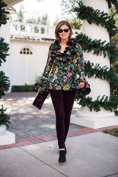 long sleeve top with delicate sleeve details