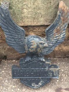 Insigne Harley Davidson en fonte