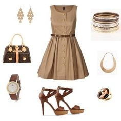 Don't really like the color brown, but this outfit looks so pretty.