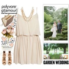 garden wedding / 1st Look