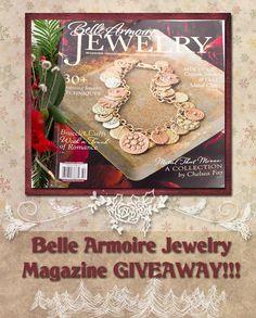 Belle Armoire Jewelry magazine GIVEAWAY from Carol Dekle-Foss of Love My Art Jewelry!