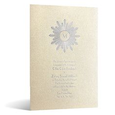 Deco Sunburst in Foil Print - Champagne Shimmer