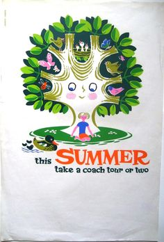 travel poster by Daphne Padden (1950's)