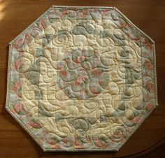 Spring Yellow Green Quilted Table Topper by HollysHutch on Etsy