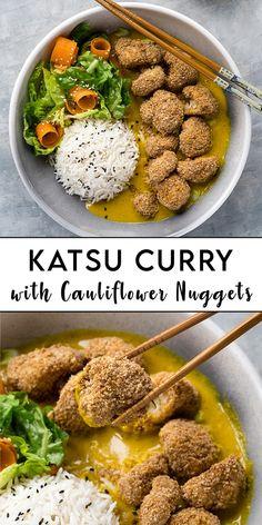 Fall Dinner Recipes, Fall Recipes, Asian Recipes, Dinner Ideas, Ethnic Recipes, Cauliflower Nuggets, Cauliflower Recipes, Vegan Vegetarian, Vegetarian Recipes