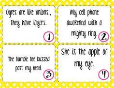 Figurative Language Task Cards FREEBIE!!