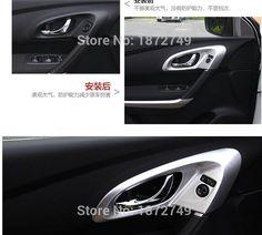 For LHD RENAULT KADJAR 2016 4pcs Car ABS Interior Door Handle bowl cover