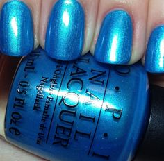 opi teal the cows come home. my current nail color. Bought this recently at ulta. Opi Nail Polish Colors, Opi Colors, Opi Nails, Colours, Crazy Nail Art, Crazy Nails, Crazy Colour, Nails Inspiration, Beauty Hacks