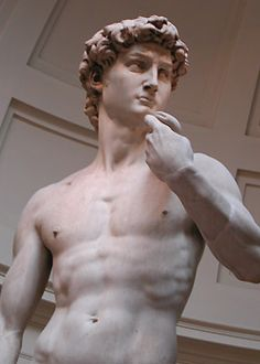 Florence Italy, Michael Angelo's David the most magnificent sculpture I have ever seen.  The detail and realism is sticking.  It is on a pedestal making it even more impressive since the statue itself is 16 feet tall.