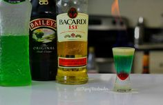 BLUE GHOST SHOT - For more delicious recipes and drinks, visit us here: www.tipsybartender.com