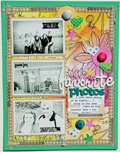 wow what a great artistic LO. Love the color with the black and white photos. Found on 2peas.
