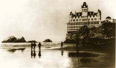 The Cliff House, 1880s ..  Have eaten here many times .. one of my favorite places for winter storms ......