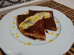 La Cocina De Sole: CREPES DE CHOCOLATE CON NATILLAS Y CARAMELO DE NARANJA
