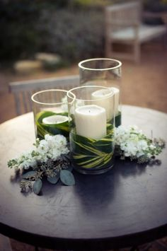 leaves and candles {Stems Floral Design}