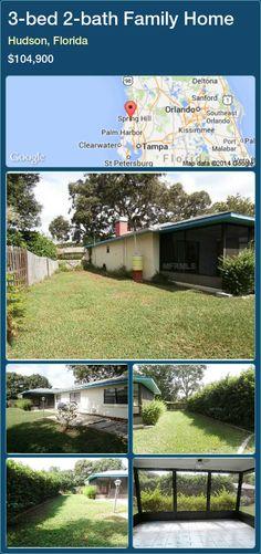 3-bed 2-bath Family Home in Hudson, Florida ►$104,900 #PropertyForSaleFlorida http://florida-magic.com/properties/55525-family-home-for-sale-in-hudson-florida-with-3-bedroom-2-bathroom