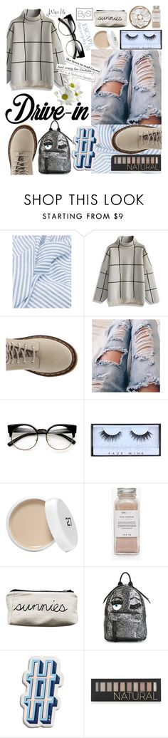 """""""Summer Date: The Drive-In"""" by ivanova-sonya on Polyvore featuring мода, Chicwish, Dr. Martens, Huda Beauty, Très Pure, Chiara Ferragni, Anya Hindmarch, Forever 21, DateNight и drivein"""