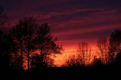 Really red sky and sunset   In Adams Co., Ohio.