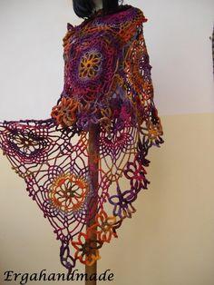 Colorful Crochet Lace Stole