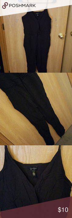 Black jumper/romper Black jumper/suit/ romper Size small 100% viscose Dresses