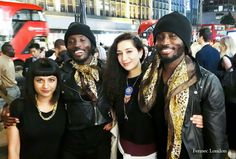 What a dapper pair! Identical twins Tola and Kola, models, in fun leopard #silk #scarves from H & M during LFW. 'Wear statement scarves, and we usually go matching' -Tola #model #malemodel #lfw #menstyle #silkscarf #modellife #party #menwithclass #rocknroll #fashionphotography #streetstyle #styleblogger #style #luxury #fashiondaily #fashionblogger #fashion