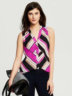 Banana Republic Bold Stripe Sleeveless Blouse on shopstyle.com