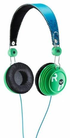 ROXY JBL headphones in blue/ green!!