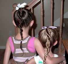 Little Girl's Hairstyles: Easy Twist Around Braided Ponytail 10-15 ...