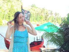Bianca Schultz   Blog de Moda e Beleza: Look: Vestido verdinho floral