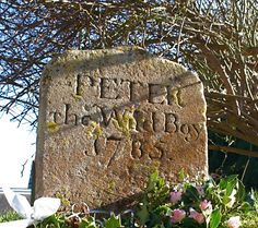 """A modest headstone in the cemetery St. Mary's Church, Northchurch, Hertfordshire, simply inscribed """"Peter the Wild Boy – 1785″ has been granted Grade II listing, marking it as a monument of special historic interest. The gravestone is in good condition, but it's the man who is buried under it who makes it historically significant."""