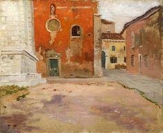 Frits Thaulow, Rød kirkevegg – Nasjonalmuseet – Samlingen