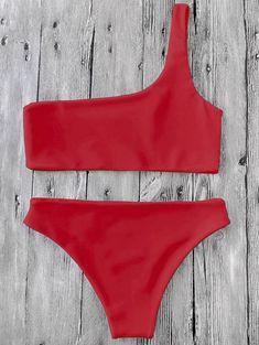 18d1461c853 Red ROCOCO one shoulder Bikini #trending #bikini #love Bikini 2018, Blue  Bikini