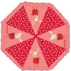 Olivia the Pig polka-dot children's umbrella. <3