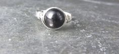 Hypersthene Sterling Silver filled Wire Wrapped Ring Gemstone Ring Custom Size on Etsy, $12.72 CAD