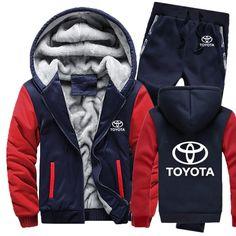 Abetteric Mens Thick Fleece Hoode Multicamo Patchwork Zip Baggy Sweatsuit Set