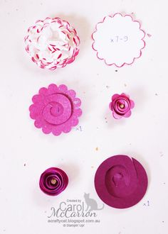 =A Crafty Cat: Paper Flowers