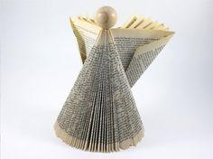 Origami Angel Paper Art Angel Folded Book Angel by CeeBeeRecycle