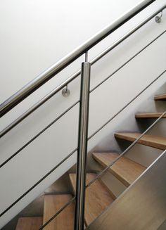 detail rvs staander op houten trap - Google Search
