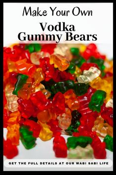 Have you ever had vodka soaked gummy bears? These gummy bears soaked in alcohol … Have you ever had vodka soaked gummy bears? These gummy bears soaked in alcohol are perfect for an adult party. Use these ideas to get a great tasting vodka gummy bear. Alcoholic Punch Recipes, Jello Shot Recipes, Vodka Recipes, Alcohol Recipes, Margarita Recipes, Martini Recipes, Vodka Gummy Worms, Alcohol Gummy Bears, Drunken Gummy Bears