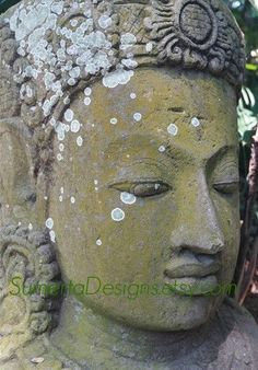Stone Buddha photo  Buddha head photography  by SumertaDesigns