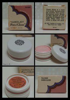 1970 Yardley Pot o'Gloss TEA ROSE Cheek Gloss with original box. Sold for $79 in 2016.