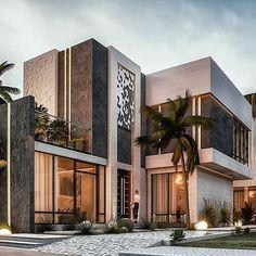 Modern Mansion Interior, Modern Exterior House Designs, Modern Villa Design, Dream House Exterior, Cool House Designs, Exterior Design, Luxury Homes Exterior, Luxury Homes Dream Houses, Luxury House Plans
