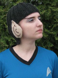 """""""You know what would rock? A SPOCK TOUQUE! Like, it would be black, and cut right across your forehead (like his bangs) and his skintone ears would be the part that covers YOUR ears!"""" --Trip"""