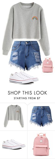 """""""Untitled #2699"""" by anisaortiz ❤ liked on Polyvore featuring Converse"""