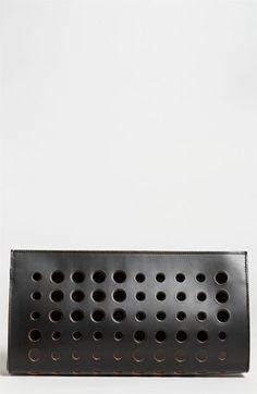 Marni Polka Dot Leather Clutch
