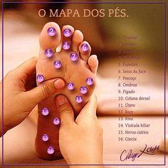 Pontos do corpo nos pés...uma massagem vai bem !!!