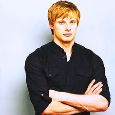Bradley James. IF HE DIED HIS HAIR BLACK HE COULD BE MY HADES!!!  He is perfect: the chin, the cheek bones, the hair (minus the color, but that can be changed), the eyes.  =]