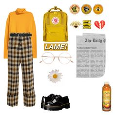 yellow by lemonscentedgay on Polyvore featuring polyvore Sea, New York Dr. Martens Fjällräven Georgia Perry M&Co Dita Burt's Bees fashion style clothing