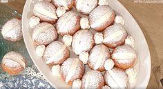 Sal De Riso a La prova del cuoco con la ricetta dei maritozzi ripieni di crema con panna Pretzel Bites, Biscotti, Almond, Vegetables, Dolce, Food, Breads, Cakes, Diet